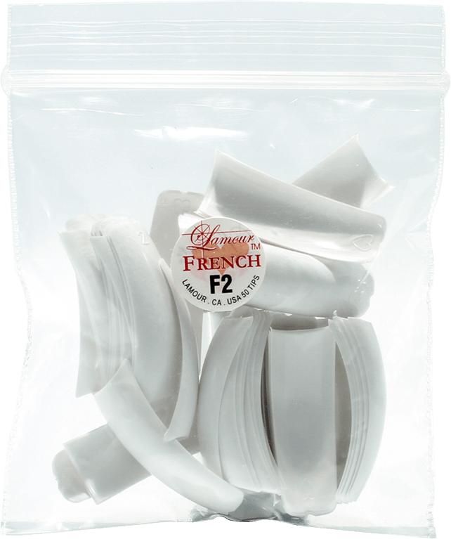 Lamour French Manicure Tip F2 (50pcs) - Gina Beauté