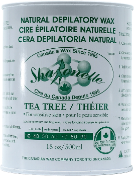 Sharonelle Natural Depilatory Wax Tea Tree 18oz - Gina Beauté