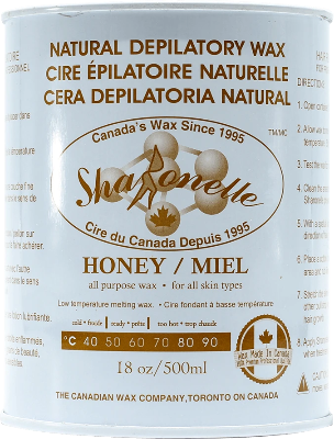 Sharonelle Natural Depilatory Wax Honey 18oz - Gina Beauté