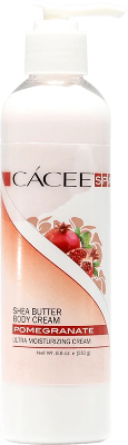 Cacee Shea Butter Ultra Moisturizing Body Cream (Pomegranate) 8.8oz - Gina Beauté