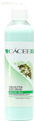 Cacee Shea Butter Ultra Moisturizing Body Cream (White Tea) 8.8 oz - Gina Beauté