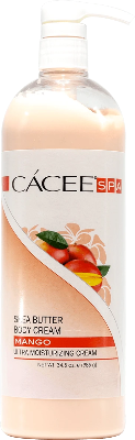 Cacee Shea Butter Ultra Moisterizing Body Cream (Mango) 34.5oz - Gina Beauté