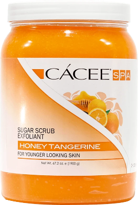 Cacee Sugar Scrub Exfoliant (Honey Tangerine) 67.2 oz - Gina Beauté
