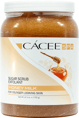 Cacee Sugar Scrub Exfoliant (Honey Milk)