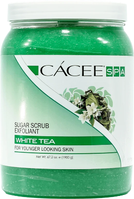 Cacee Sugar Scrub Exfoliant (White Tea)