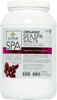 La Palm Spa Sea Spa Salts (Raspberry Pomegranate) - Gina Beauté