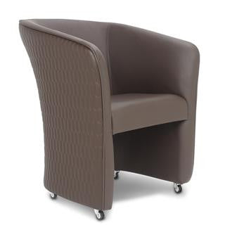 Gs9057 - Chiq Quilted Tube Chair (Truffle) - Gina Beauté