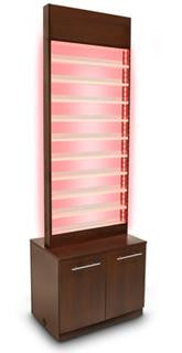 Paris Nail Polish Rack with Cabinet with LED Light - Gina Beauté
