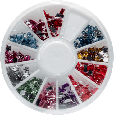 Nail Art Sorted Crystals - Gina Beauté