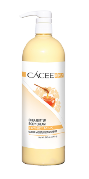 Cacee Shea Butter Ultra Moisturizing Body Cream (Honey Milk) 8.8 oz