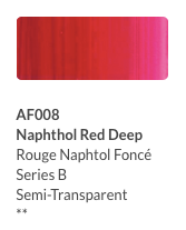 Aeroflash Airbrush Naphthol Red Deep (AI608) - Gina Beauté