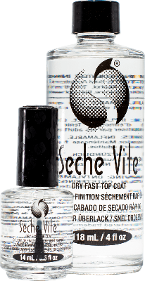 Seche Vite Dry Fast Top Coat High Shine Professional Kit 1/2oz & 4oz Refill - Gina Beauté