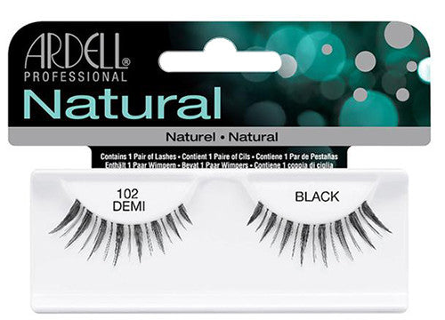 Ardell lashes Natural 102 Demi Black (1 Pair)