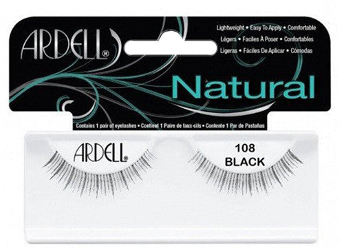 Ardell lashes Natural 108 Black (1 Pair) - Gina Beauté