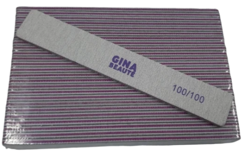 Gina Beaute Purple Nail File (100/100/Large) 25pcs