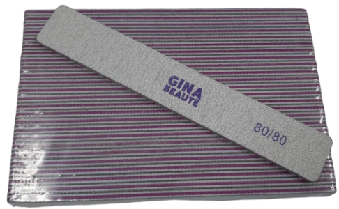 Gina Beaute Purple Nail File (80/80/Large) 25pcs