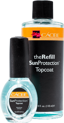 Cacee SunProtection TopCoat Refill + 15ml Top Coat free - Gina Beauté