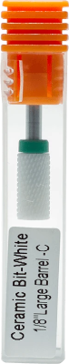 "Ceramic Bit- White 1/8"" Large Barrel C"