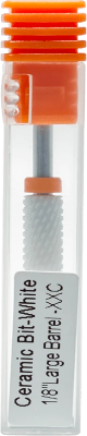 "Ceramic Bit- White 1/8"" Large Barrel XXC"