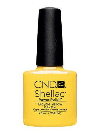 CND Shellac™ Bicycle Yellow Color Coat - Gina Beauté