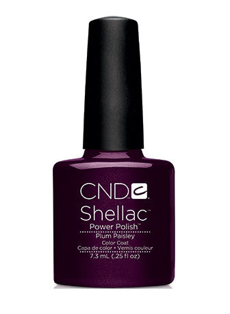CND Shellac™ Plum Paisley Color Coat
