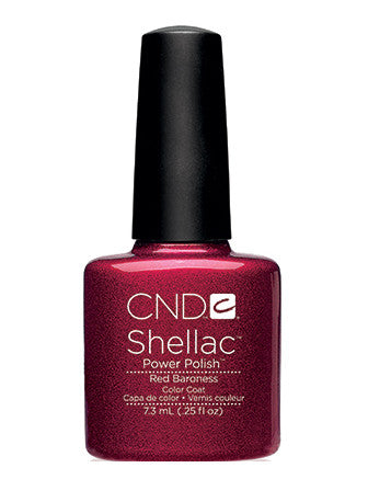 CND Shellac™ Red Baroness Color Coat - Gina Beauté