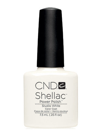 CND Shellac™ Studio White Color Coat - Gina Beauté
