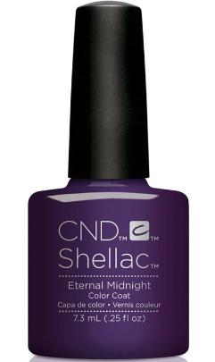 CND Shellac™ Eternal Midnight Color Coat - Gina Beauté
