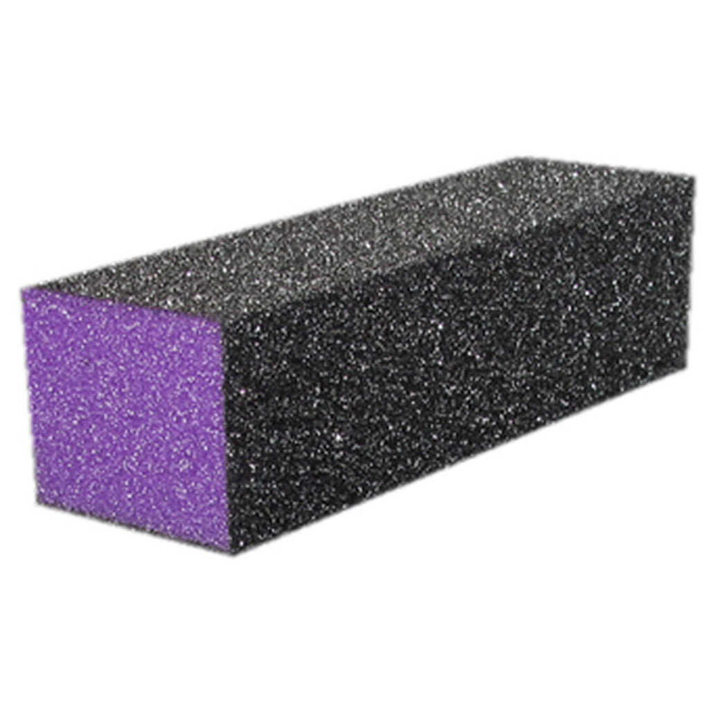 3 sided Nail Buffer (Black/Purple) 1pcs - Gina Beauté