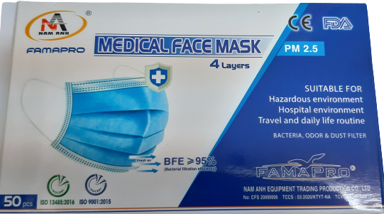 Famapro Medical Facemask 4 Layers (50pcs)