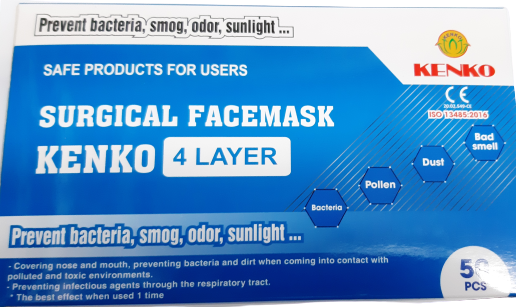 Kenko Surgical Facemask 4 Layer (50pcs)