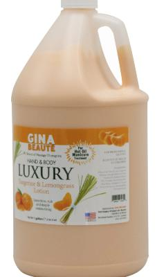 Gina Beauté Tangerine & Lemon Grass Healing Therapy Lotion ( Can be used for Hot Oil Manicure)