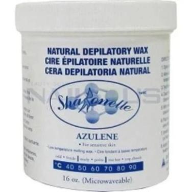 Sharonelle Natural Depilatory Wax Azulene 16oz - Gina Beauté
