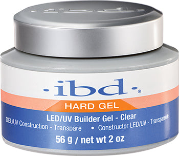 IBD Hard Builder Gel Clear Net wt 2 oz ( 56g) - Gina Beauté