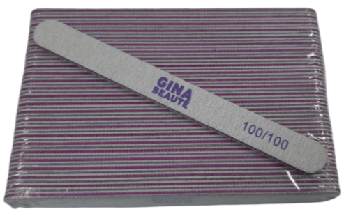 Gina Beaute Purple Nail File (100/100/Regular) 25pcs