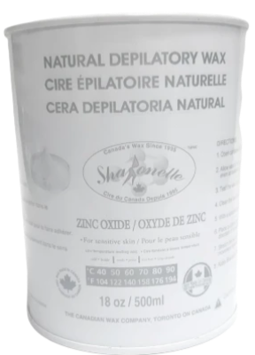 Sharonelle Natural Depilatory Wax Zinc Oxyde 18oz