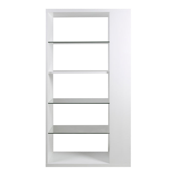 Albert bookcase / wall unit in white high gloss