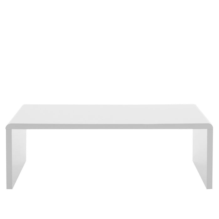 Bella coffee table in modern white high gloss