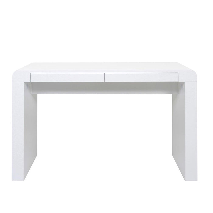 Charlie desk - modern high gloss white with drawers