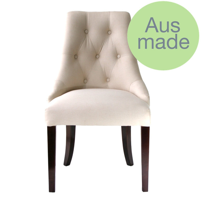 Kelly dining chair - Australian made - upholstered in any fabric