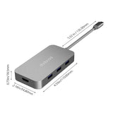 Gray Multifunction USB-C Hub for Macbook