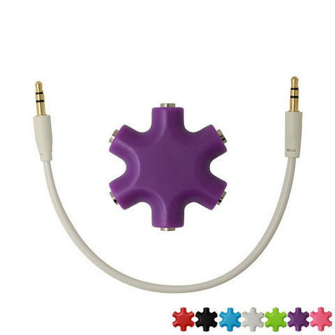 5 Way Aux Headphone Splitter
