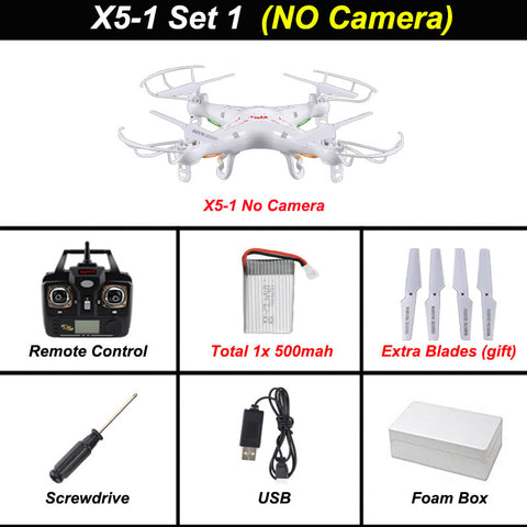 Syma X5C-1 Quadcopter Drone With Camera X5C or X5 rc helicopter without camera