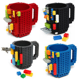 Lego Type Building Blocks Coffee Cup