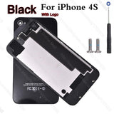 Back Glass Cover Door Case for iPhone 4 4G 4s free Original Screws tool replacament