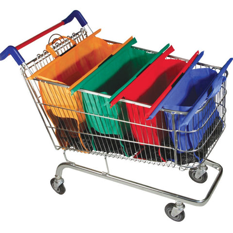 Trolley Supermarket Shopping Bags To Cart