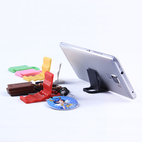 Colored plastic mini phone stand