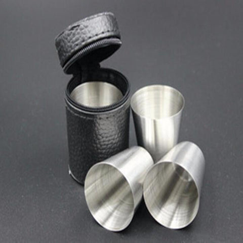 Steel Wine Drinking Shot Glasses