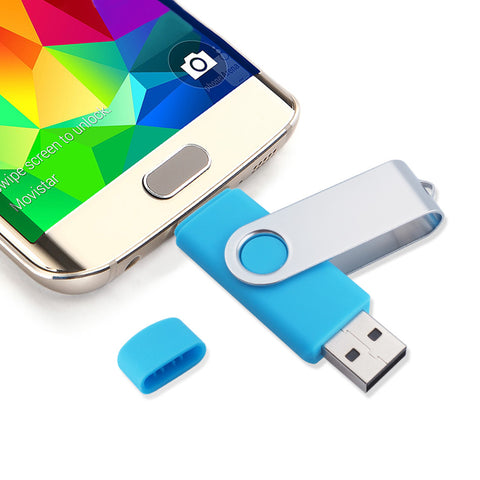 Two-site mobile phone OTG usb flash drive 4gb 8gb16gb 32gb 64gb high speed rotation usb flash memory pen drive usb stick gift