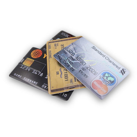 Credit card USB Flash Drive 64GB, 32GB,16GB, 8GB